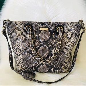 New Kate Spade Quilted Snake Leather Bag